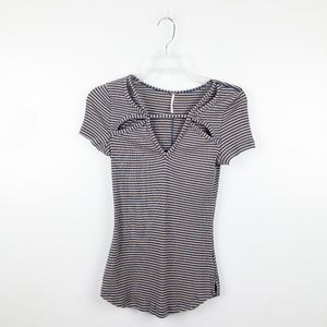 Free People | Ribbed Cutout Top Frenchie Medium